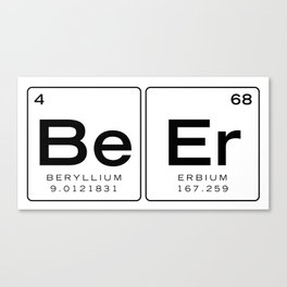 The Element of Beer - Beer Periodic Table of Elements, Nerdy Canvas Print