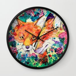 In the Thistles Wall Clock