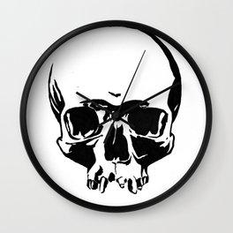 Black & White Simple Skull Wall Clock
