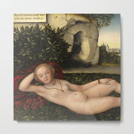 "Lucas Cranach the Elder ""The Nymph of the Spring"" Metal Print"