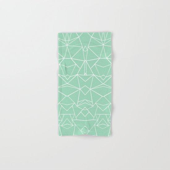 Abstract Mirror Mint Hand & Bath Towel