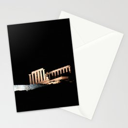 Cape Sounio at night Stationery Cards