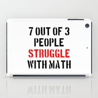 math iPad Cases featuring Math Struggle by Spooky Dooky