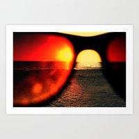 sunglasses Art Prints featuring Sunglasses by Nellie Harvey
