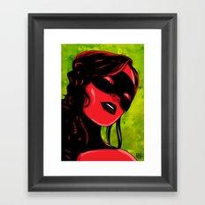 Shades of red Framed Art Print