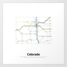 Highways of the USA – Colorado Art Print
