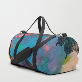 Lady Liberty Butterfly Explosion Duffle Bag