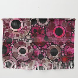 Vibrant Abstract Pink Bubbles design Wall Hanging