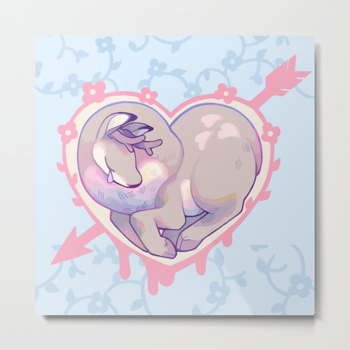 DEER HEART Metal Print