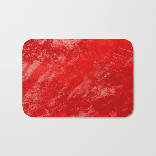 Love And Fury - Abstract painting in red Bath Mat
