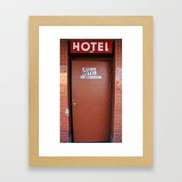 Main Entrance of Imperial Hotel in Lodi, CA Framed Art Print