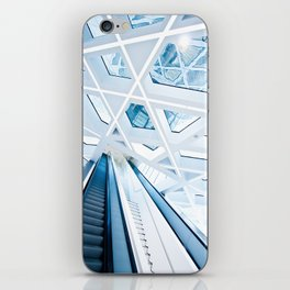 Modern interior with stairs iPhone Skin