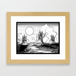 Three Castles Framed Art Print