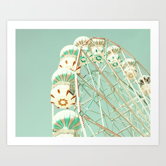 Mint ferris wheel  Art Print