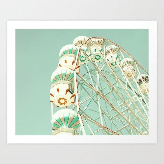 Mint ferris wheel  Art Print