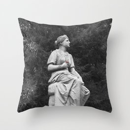 Guardian with a Bloom Throw Pillow