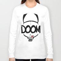 doom Long Sleeve T-shirts featuring DOOM by Oddworld Art