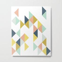 Modern Geometric Design Metal Print