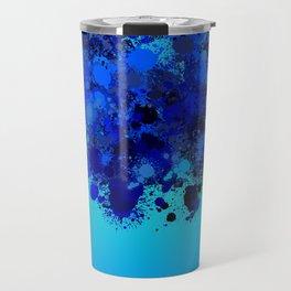 paint splatter on gradient pattern bl Travel Mug