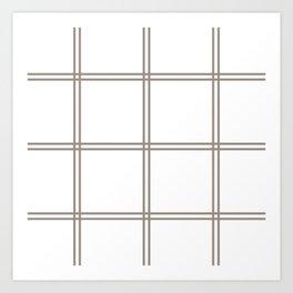 Brown checkered lines Art Print