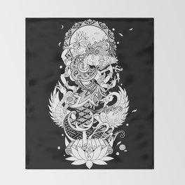 Balinese Saraswati Throw Blanket