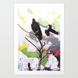 Eagle and Crow Art Print