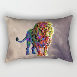 Cubed Lion King Rectangular Pillow