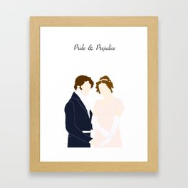 Elizabeth and Mr Darcy Framed Art Print