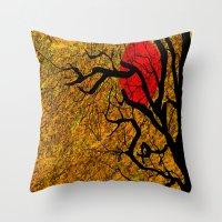 twilight Throw Pillows featuring TWILIGHT by aztosaha