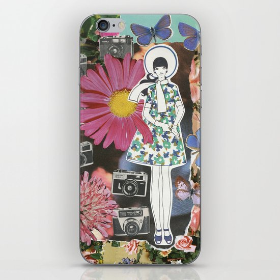 cameras and butterflies iPhone & iPod Skin