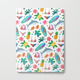 Dotty Summer Beach Pattern Metal Print
