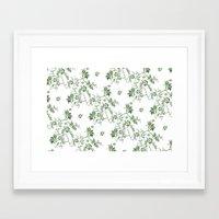 penis Framed Art Prints featuring Penis Pattern GREEN by Daniel McLaren