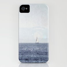 Sail Away With Me Slim Case iPhone (4, 4s)