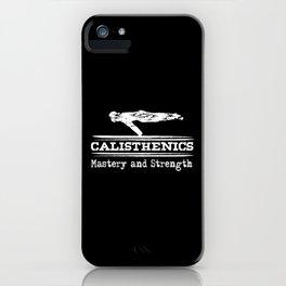 Fitness Calisthenics For Athletes iPhone Case