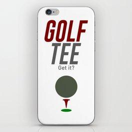Golf Tee Pun Golfing Game Swing Ball iPhone Skin