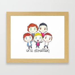 One Direction - Chibi Version Framed Art Print