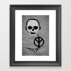 Love' skull -  a collaboration between Sam Guilhen and Gwenola de Muralt - Framed Art Print