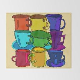 Tea Cups and Coffee Mugs Spectrum Throw Blanket