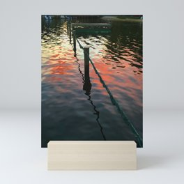 Sunset reflection on Severn River, Maryland Mini Art Print