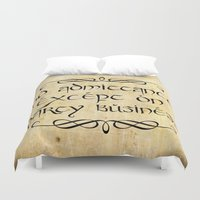 lotr Duvet Covers featuring No admittance except on party business by Augustinet