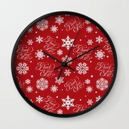 Peace and joy Wall Clock