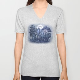 Midnight in the Stone Garden (colour option) Unisex V-Neck