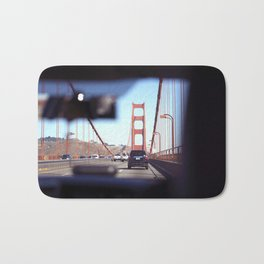 From the Backseat, Driving Across the Golden Gate Bath Mat