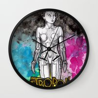metropolis Wall Clocks featuring METROPOLIS by Dianah B