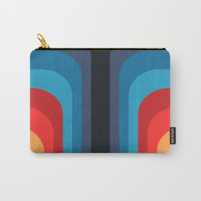 Retro Rainbow 01 Carry-All Pouch