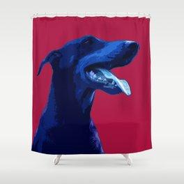 Doberman Pop art portrait. Shower Curtain