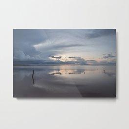 Lake Tyrrell at Sunset Metal Print
