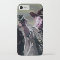 rick grimes iPhone & iPod Cases featuring Rick Grimes by Processed Image