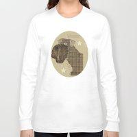 schnauzer Long Sleeve T-shirts featuring Schnauzer  by bri.buckley