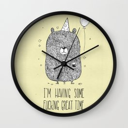 Unemotional Bear Wall Clock